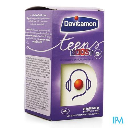 Afbeelding Davitamon Teens Boost 12+ Kauwcapsules met Citroensmaak 60 Stuks.