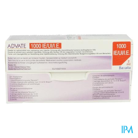 Advate 1000ui Pulv+solv Sol Inj 2ml(500iu/ml)+kit