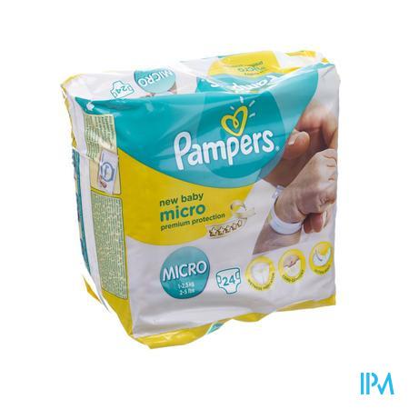 Pampers New Baby Micro 1 - 2,5 kg 24 stuks