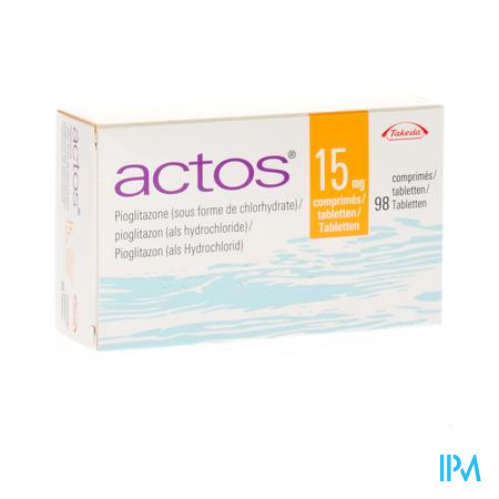 Actos 15mg Comp 98 X 15mg