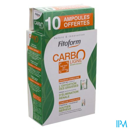 Carboligne Bio Ampoules 30x10ml + Flacon 60ml