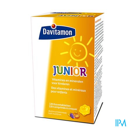 Davitamon Junior Multifruit 120 tabletten