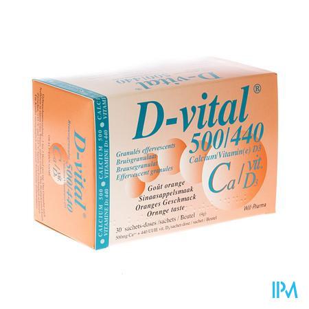 D Vital 500/440 Sachets 30  -  Will Pharma
