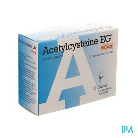 Afbeelding Acetylcysteïne EG 600 mg 30 Zakjes.