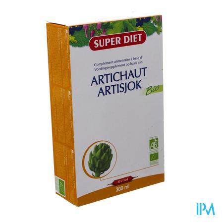 Super Diet Artisjok Bio Vertering Ampulles 15ml  20 stuks
