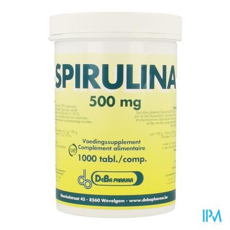 Farmawebshop - SPIRULINA DEBA 500 mg x 1000 tabletten