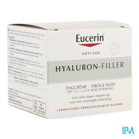 Afbeelding Eucerin Hyaluron Filler Dagcreme Droge Huid 50ml.