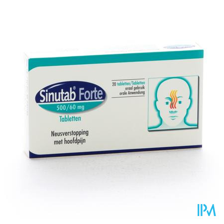 Sinutab Forte 500/60mg Comp 20