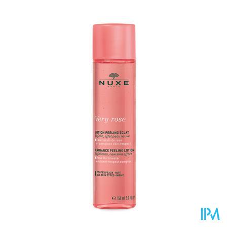 Afbeelding Nuxe Very Rose Peeling-Lotion voor 's Nachts voor een Stralende Teint met Rozenwater en Skin-Respect Complex voor Gelaat voor Alle Huidtypes Flacon 150 ml.
