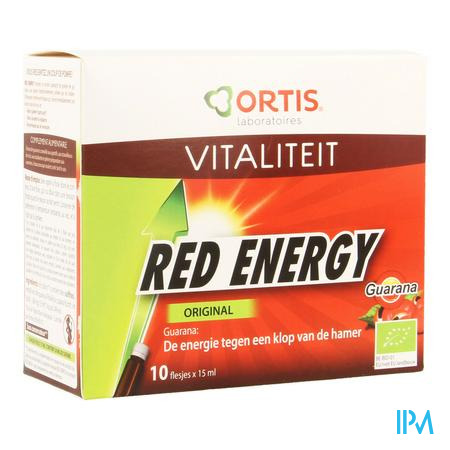 Ortis Red Energy Bio Alc 10x15 ml