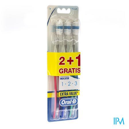 Oral B Indicator 1- 2-3 35 Tandenborstel 3 stuks