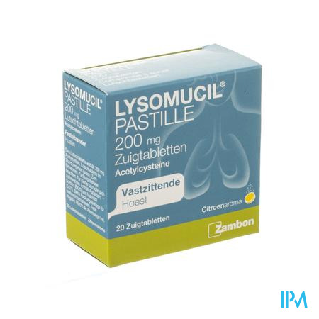 Lysomucil 200 Comp A Sucer - Zuigtabletten 20