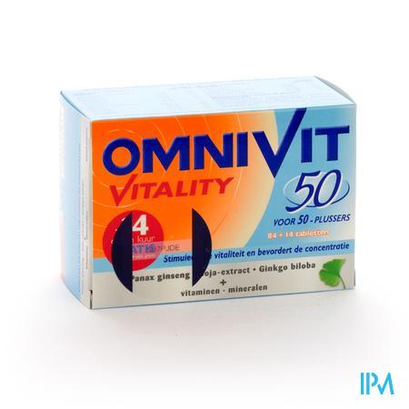Farmawebshop - OMNIVIT VITALITY 50 TABL 84+14 PROMO