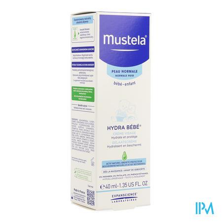 Afbeelding Mustela Baby en Kind Hydra Bébé Gelaatscrème voor Normale Huid 40 ml.