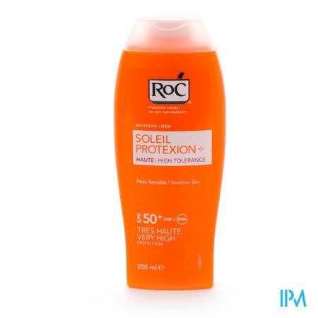Afbeelding Roc Soleil Protexion Zonnemelk met SPF 50+ voor Lichaam voor Gevoelige Huid 200 ml.