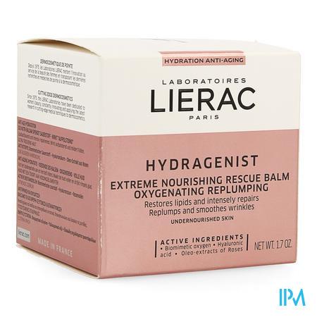 Afbeelding Lierac Hydragenist Nutribaume Nourrissant SOS Voedende SOS-Balsem Oxigenerend en voor Volle Huid voor Uitgedroogde Huid Pot 50 ml.