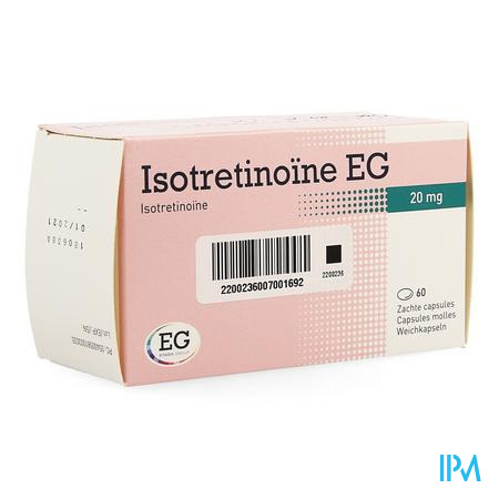 Isotretinoine Eg 20mg Caps 60 X 20mg
