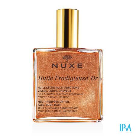 Afbeelding Nuxe Huile Prodigieuse Or Multifunctionele Droge Olie voor Gelaat, Lichaam en Haar voor Alle Huidtypes Sprayflacon 100 ml.