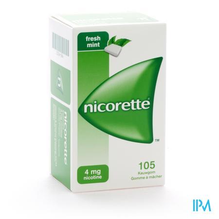 Nicorette Kauwgom Fresh 4/105 105 kauwgoms