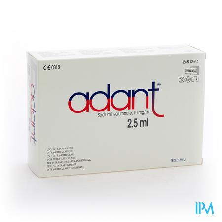 Adant Opl 1% Inj Intra Articul. 5 X 2,5ml