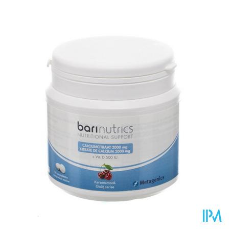Afbeelding Barinutrics 2000 mg Calciumcitraat en 500 IU Vitamine D 90 Kauwtabletten met Kersensmaak .