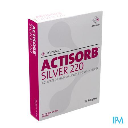 Actisorb Silver 220 9.5cm x 6.5cm 10 stuks