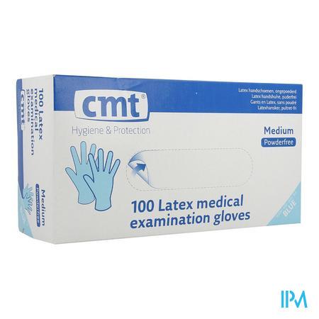 Cmt Handschoenen Latex Blauw Pv M 100