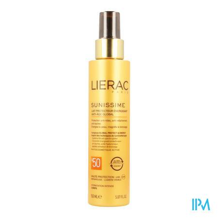 Afbeelding Lierac Sunissime Verkwikkende Zonnemelk SPF 50 met Globale Anti-Ageing voor Lichaam Spray 150 ml.