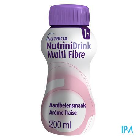 Nutrinidrink Aardbei Multi F.+12m Fl 200ml 65589