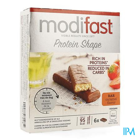 Modifast Protiplus Reep Melkchocolade-caramel 162g