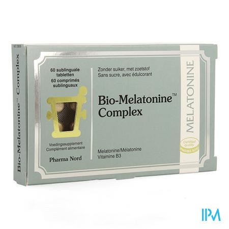Afbeelding Bio-Melatonine Complex 60 Sublinguale Tabletten .