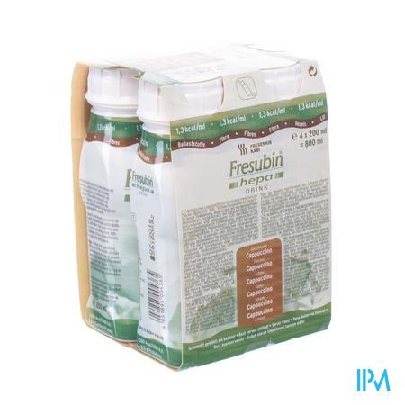 Fresubin Hepa Drink Cappuccino Easy Bottle 4x200 ml  -  Fresenius