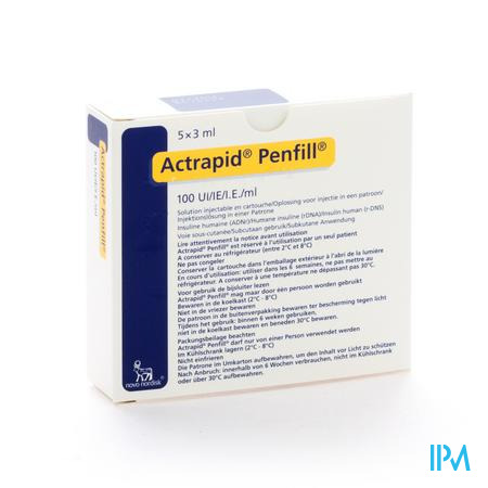 Actrapid Penfill 100 Iu/ml 5 X 3,0ml