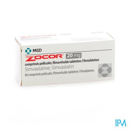 Zocor Tabl 84 X 20mg