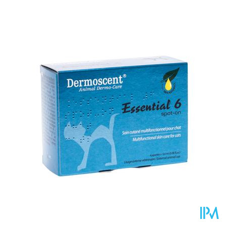 Dermoscent Spot-On Kat Pipet 0,6Ml 4 stuks