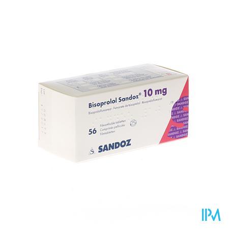 Bisoprolol Sandoz 10mg Tabl 56 X 10mg