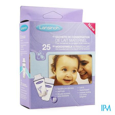 Afbeelding Lansinoh Bewaarzakjes Voor Moedermelk 25 stuks.
