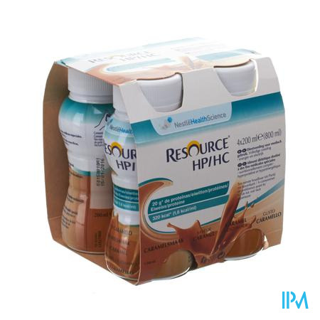Resource Hp Hc Caramel Fles 4x200 ml