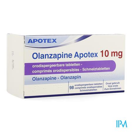 Olanzapine Apotex 10mg Comp Orodisp 98x 10mg