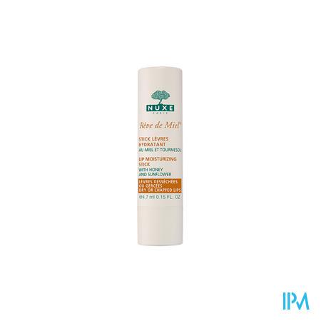Afbeelding Nuxe Rêve de Miel Hydraterende Lipstick met Honing en Zonnebloem voor Droge en Beschadigde Lippen 4 g.