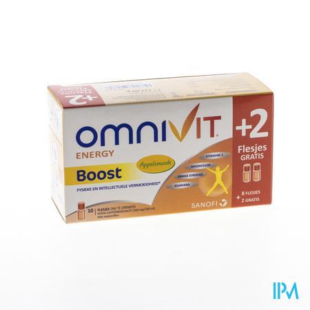 Omnivit Boost + 2 Flacons Gratis 10 x 10 ml flacons
