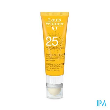 Afbeelding Louis Widmer Sun Cream 25 zonder parfum + Lipstick 25ml.
