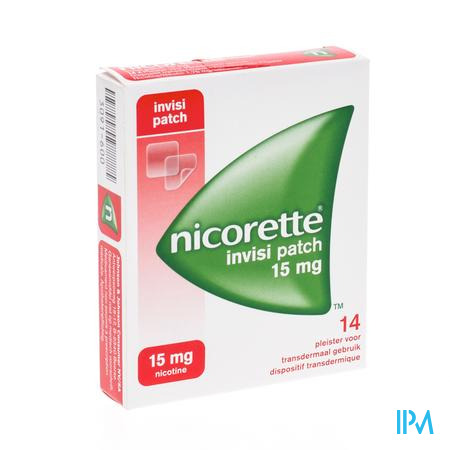 Afbeelding Nicorette Invisi Patch 15 mg 14 Pleisters.