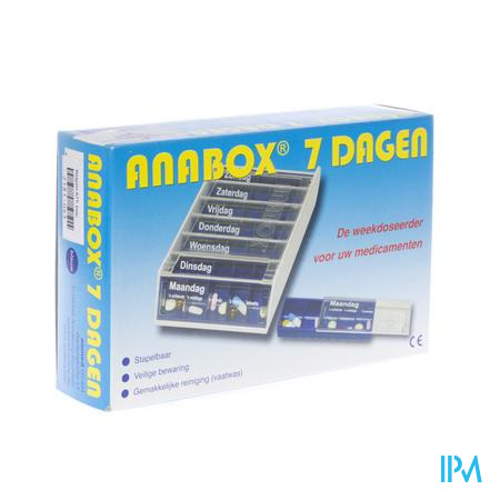 Anabox Pilbox Blauw 7 Dagen Nederlands 1 stuk