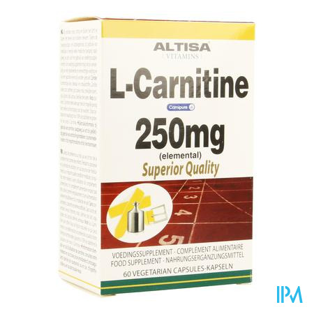 Altisa l-carnitine 250mg (carnipure) Comp 60