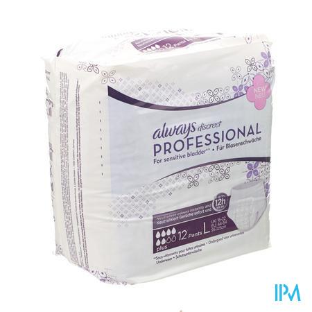 Afbeelding Always Discreet Professional Ondergoed Maxi L 12 stuks.