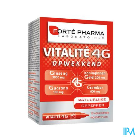 Forté Pharma Energie Vitalité 4G 10 x 10 ml ampoules
