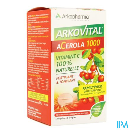 Arkovital Acerola 1000 Familypack Tabl A Macher 60