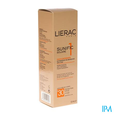 Lierac Sunific Lichaamsolie Satijn Ip30 125 ml spray