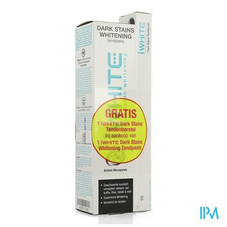 Iwhite Dark Stains Whitening Tandpasta Tube 75ml